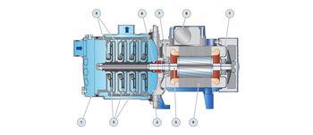 купить Центробежный многоступенчатый электронасос Pedrollo 5CRm100 1.1 кВт в Кишинёве