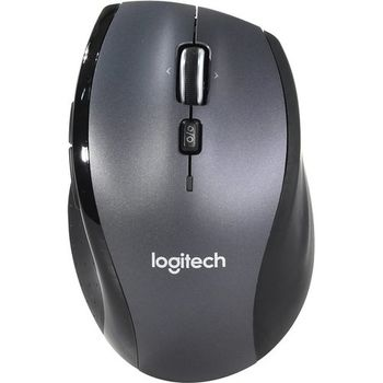 Logitech Wireless Mouse M705, Laser Mouse for Notebooks, Hyper-fast scrolling, Nano receiver, Dark-Grey/Silver, Retail
