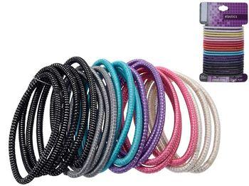 Set elastice pentru par lung 20buc, 4 culori