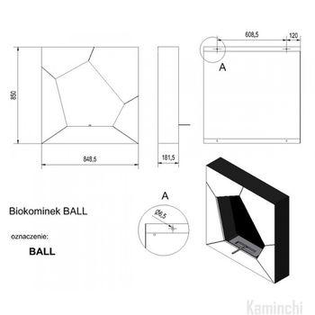 купить Биокамин - BALL настенный/напольный в Кишинёве