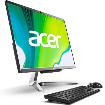 "Компьютер моноблок 23.8"" ACER Aspire C24-963 Iron Gray, Intel Core i3-1005G1 1.2-3.4GHz/8GB DDR4/SSD 256GB/Intel UHD Graphics/Webcam HD/Speakers 2x3W/WiFi 802.11AC +Bluetooth 5.0/Gigabit LAN/23.8"" FullHD IPS (1920x1080)/Keyboard&Mouse/Windows 10Pro"