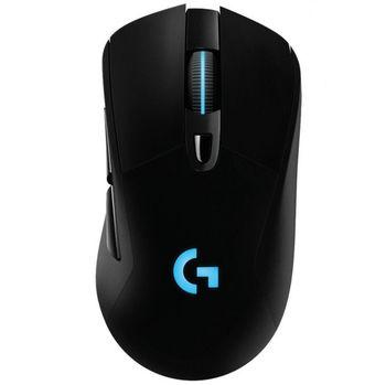 Logitech Gaming Mouse G703 Lightspeed Wireless, Bluetooth, High-speed, Hero 16K Gaming Sensor, Mechanical button, 6 Programmable buttons, 100-16000 dpi, LIGHTSYNC RGB lighting.