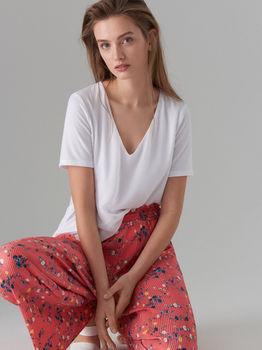 Pantaloni MOHITO Roz cu imprimeu vs333