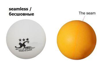 Мяч для настольного тенниса (бесшовный) Tibhar 3*** 40+ SL ITTF (939)