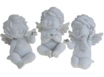 """Статуэтка """"Ангел сидящий"""" 10.5сm, белая"""