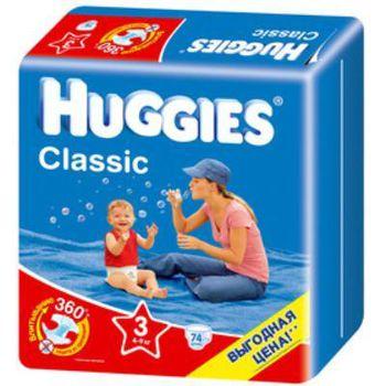 Huggies подгузники Classic Mega 3 (4-9 кг) (78  шт.)