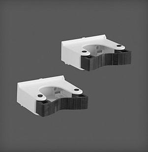 купить Большой держатель для инструментов (2 штук) 82x38x78 мм белая в Кишинёве