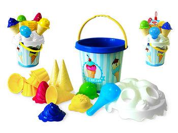 """Набор игрушек для песка в ведерке """"Мороженное"""" 15ед, 17X17cm"""