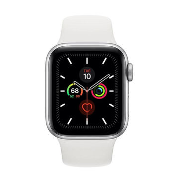 купить Apple Watch Series 5 44mm/Silver Aluminium Case With White Sport Band, MWVD2 GPS в Кишинёве