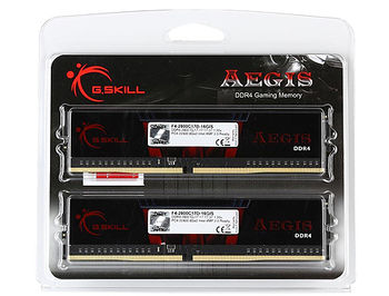 32GB DDR4 Dual-Channel Kit G.SKILL Aegis F4-3200C16D-32GIS 32GB (2x16GB) DDR4 PC4-25600 3200MHz CL16, Retail (memorie/память)