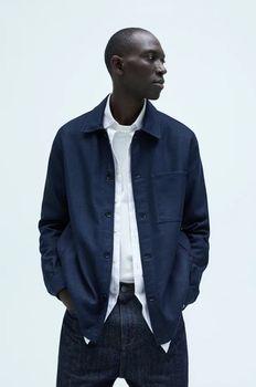 Рубашка ZARA Темно синий 7545/480/401