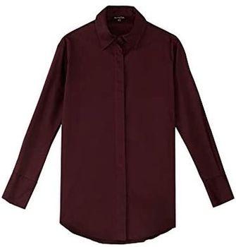 Блуза Massimo Dutti Темно Фиолетовый 5136/530/610
