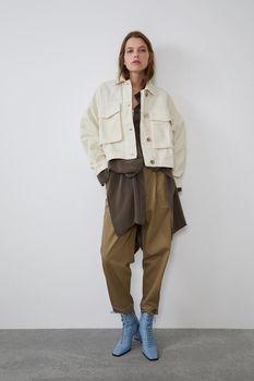 Куртка ZARA Бежевый 8527/201/712