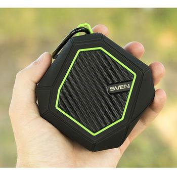 купить Bluetooth Portable Speaker SVEN PS-77BL 5W, Black/Green в Кишинёве