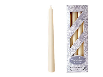 Набор свечей 8шт, 24cm, 7часов, беж