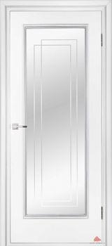 купить Дверь Триумф белый лак с зеркалом триплекс в Кишинёве