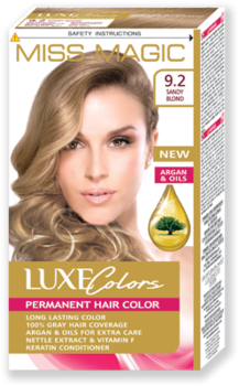 Краска для волос,SOLVEX Miss Magic Luxe Colors, 108 мл., 9.2 - Тёмно-песочный