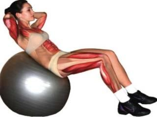 Мяч гимнастический с насосом 45 см inSPORTline 3908 green (2996)