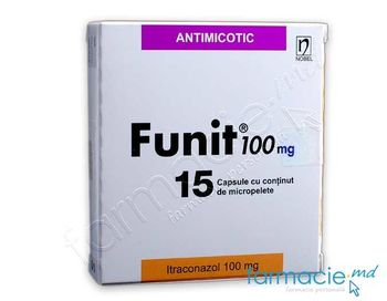 купить Фунит, 100 мг капсулы N15 (итраконазол) в Кишинёве