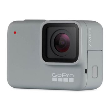Action Camera GoPro HERO7 White, Photo-Video Resolutions: 10MP/15FPS-1080p60, 2x slow-motion, waterproof 10m, voice control, 2x microphones, video stabilization, touch screen, Wi-Fi, Bluetooth, USB-C, Battery 1220mAh, 92.4g