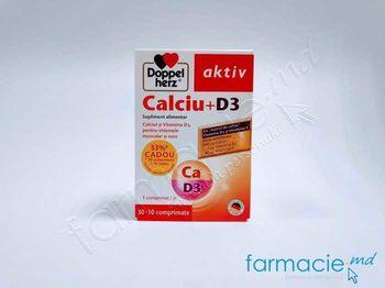купить Calciu-D3 comp. 600mg+5mkg N30+10 Cadou Doppelherz в Кишинёве