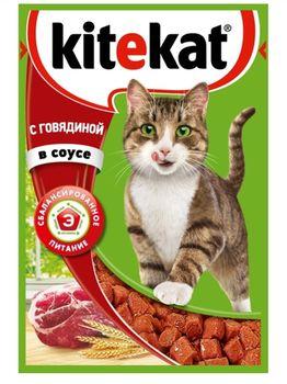 купить Kitekat  с говядиной в соусе в Кишинёве