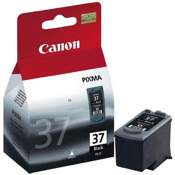 Cartridge Canon PG-37, black for MP140/190/210/220; MF210/220; iP1800/1900/2500/2600;  MX300/310