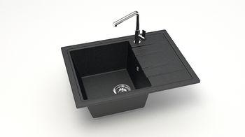 купить Матовые кухонные мойки из литьевого мрамора  (черный.)  F150Q4 в Кишинёве