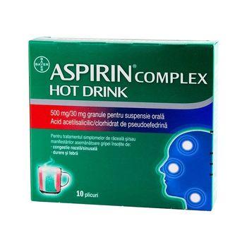купить Aspirin Complex Hot Drink gran./susp. orală 500 mg/30 mg N10 в Кишинёве