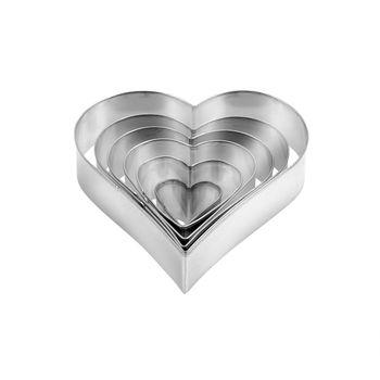 Формочки для печенья в форме сердца DELÍCIA, 6 шт.