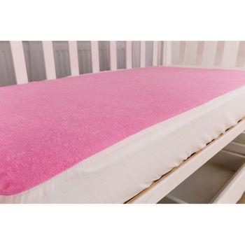 Наматрасник непромокаемый на резинках120/60, розовый, код 42089