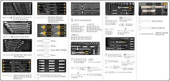 купить Ящик с инструментом Vorel 177 ед. (58540) в Кишинёве