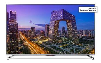 "55"" LED TV SHARP LC-55UI8762ES, Silver, 3840x2160 (4K), SmartTV (Aquas NET+), Wifi+Lan, Active Motion 800, Wide Color Gamut, HDR, ACE PRO ULTRA Engine, Harman Kardon, RMS 2x10W, HDMIx3, USBx3, SD Card slot, DVB-T2/C/S2/CI+, RF RC, Vesa 200x200"