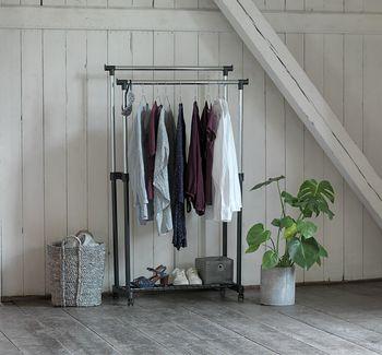 cumpără Cuier dublu din oţel inoxidabil pentru haine OL-105, 800x300x (1050-1300) mm în Chișinău