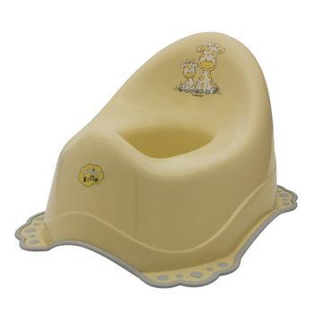"""Oală cu acoperie antiderapantă  """"Girafa"""" , bej / gri, cod 41075"""