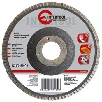 Intertool Диск шлифовальный лепестковый 115мм BT-0104