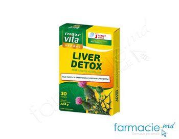 купить Liver Detox tab.N30 (silimarina 150mg + Vit.B complex+C+E+acid folic)MaxiVita в Кишинёве