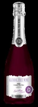 Красное Игристое полусладкое безалкогольное вино, 0.75 Л