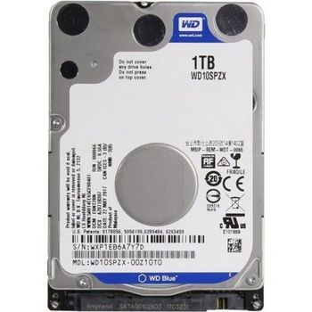 "2.5"" HDD 1TB  Western Digital WD10SPZX, Blue™, 5400rpm, 128MB, 7mm, SATAIII"