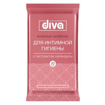 cumpără Diva Servetele umede pentru igiena intima cu extract de calendula N20 în Chișinău