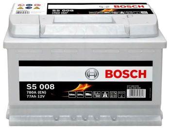 Bosch S5 12V 77Ah 780EN 278x175x190 -/+