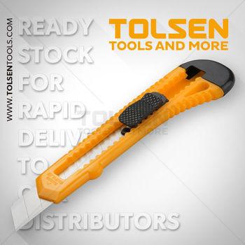 купить Нож с отламывающимся лезвием 18мм  пластик  Tolsen в Кишинёве