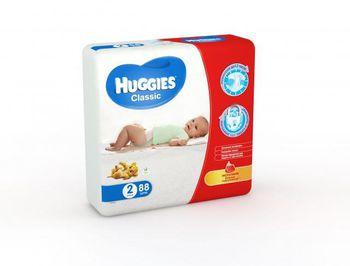 Huggies подгузники Classic 2 (3-6 кг) (88 шт.)
