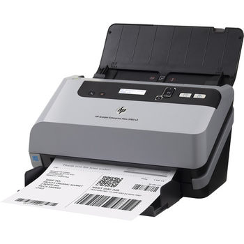 Document Scanner HP Scanjet Ent. Flow 5000 s3, Sheetfed, Up to 30 ppm/60 ipm (300 dpi), up to 4000 pages daily, 50 sheets ADF, Single pass E-Duplex, Ultrasonic Multifeed detection, Hi-Speed USB 2.0