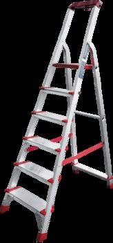 купить Стремянка с площадкой и лотком для инструмента (6ст - широкие) 5150106 в Кишинёве