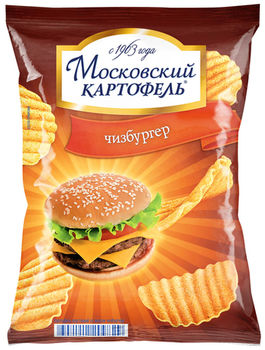 """Чипсы """"Московский Картофель"""" Чизбургер 70г"""
