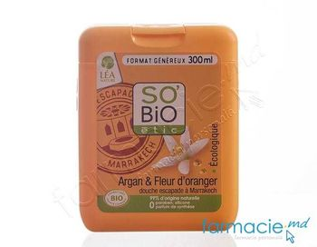 купить So Bio Gel de dus Argan & Floare de portocala 300ml в Кишинёве