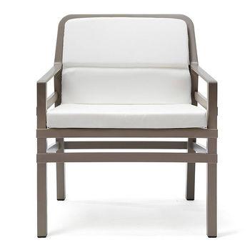 Кресло с подушками Nardi ARIA FIT TORTORA bianco 40330.10.155.FIT (Кресло с подушками для сада и терас)