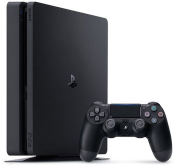 Game Console  Sony Playstation 4 Slim 500GB Black, 1 x Gamepad (Dualshock 4)