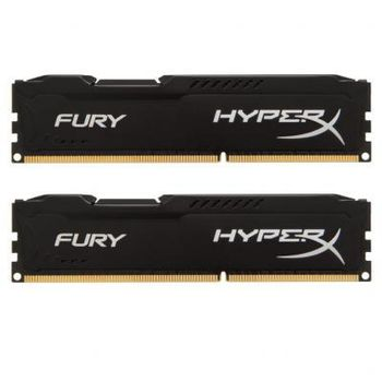 16GB (Kit of 2*8GB) DDR4-2933  Kingston HyperX® FURY DDR4, PC23400, CL17, 1.2V, Auto-overclocking, Asymmetric BLACK heat spreader, Intel XMP Ready  (Extreme Memory Profiles)